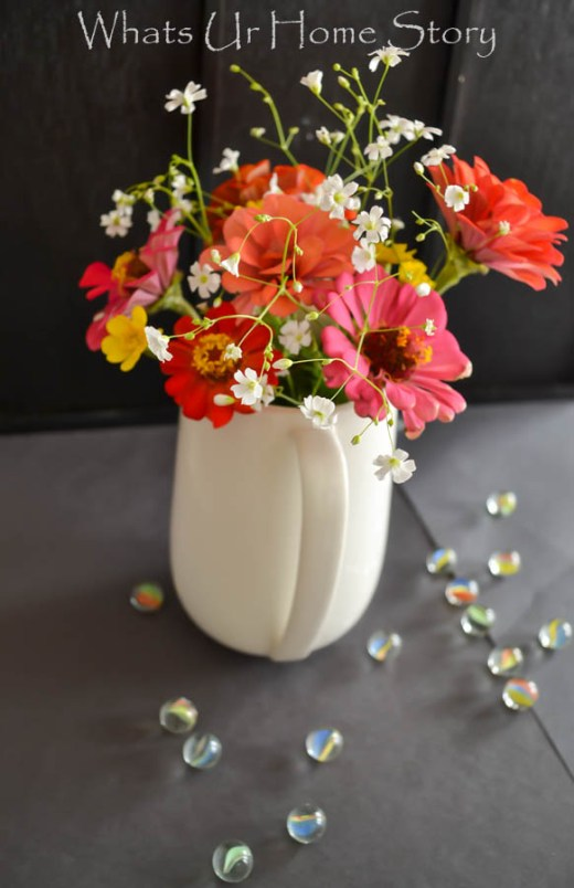 country flowers summer arrangement