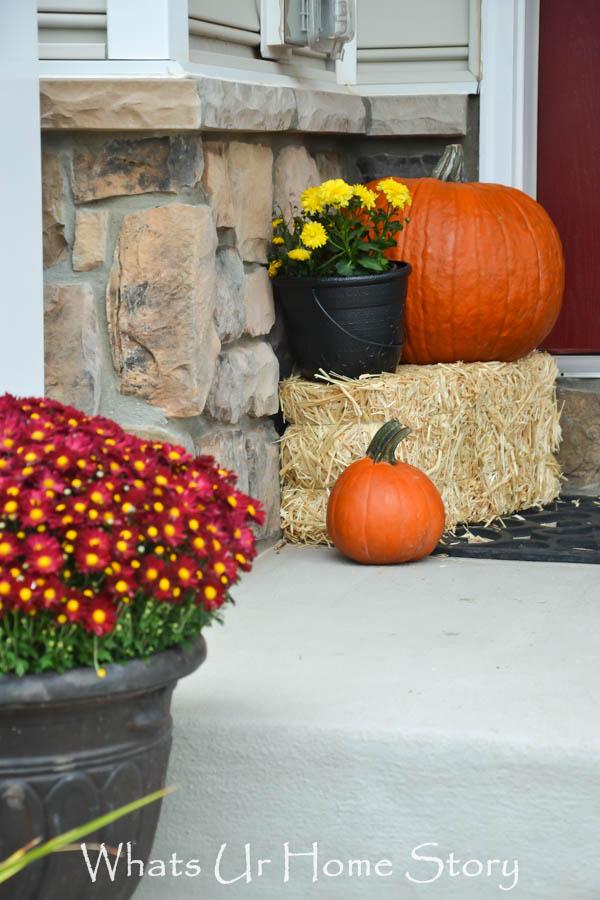 Fall porch decor, Fall front porch