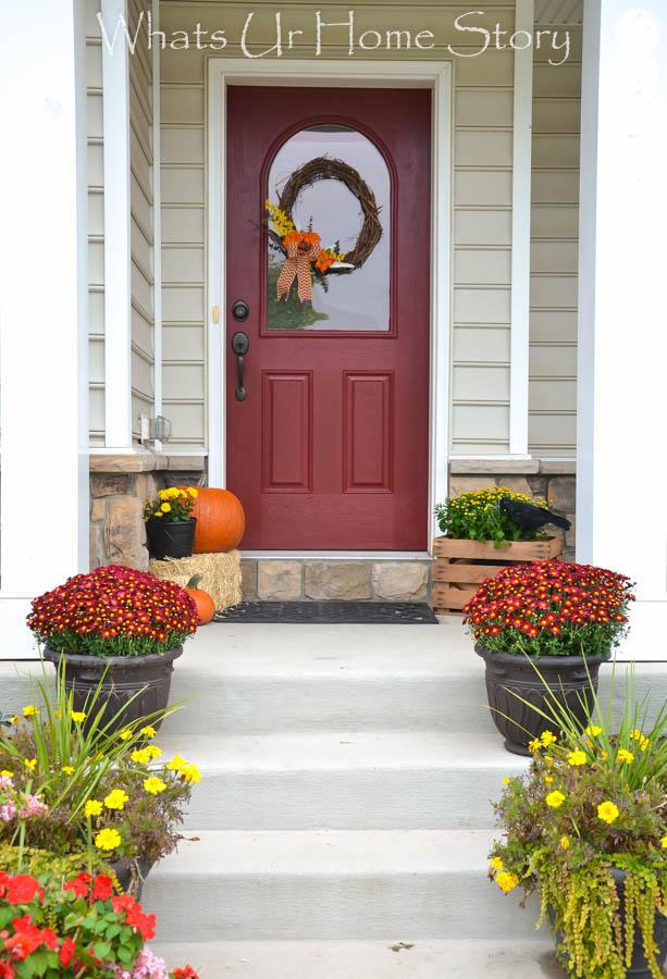 autumn porch, Fall front porch