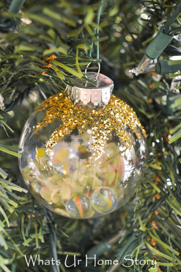 5 minute DIY Ornament with Marbles -Marbles Ornament