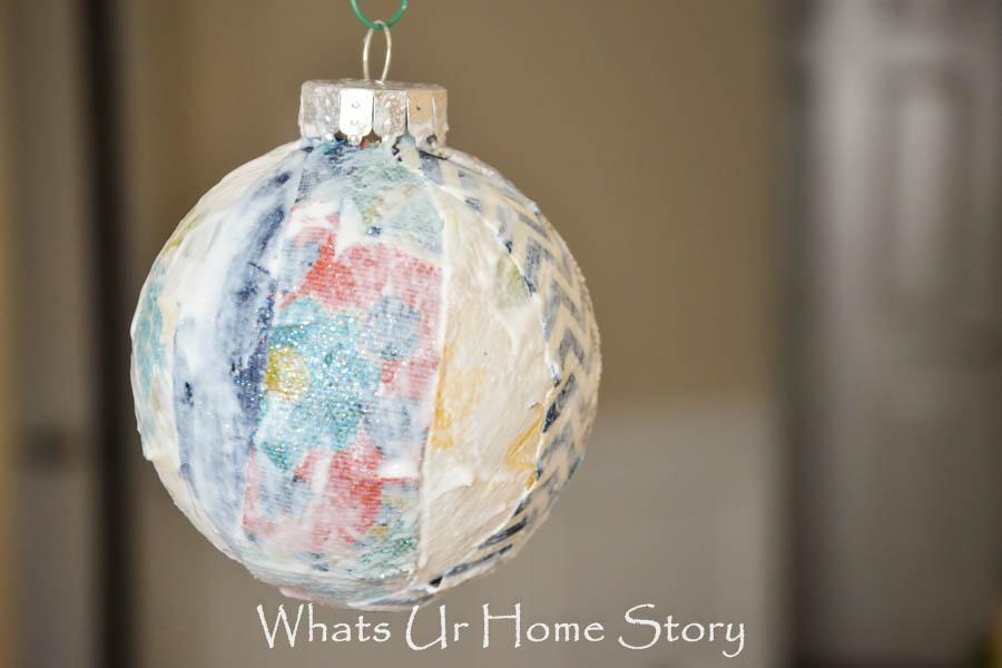 Fabric Scraps Ornament