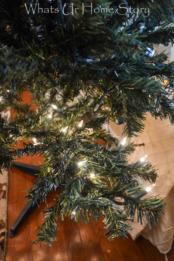 How to string lights on a Christmas Tree Tutorial
