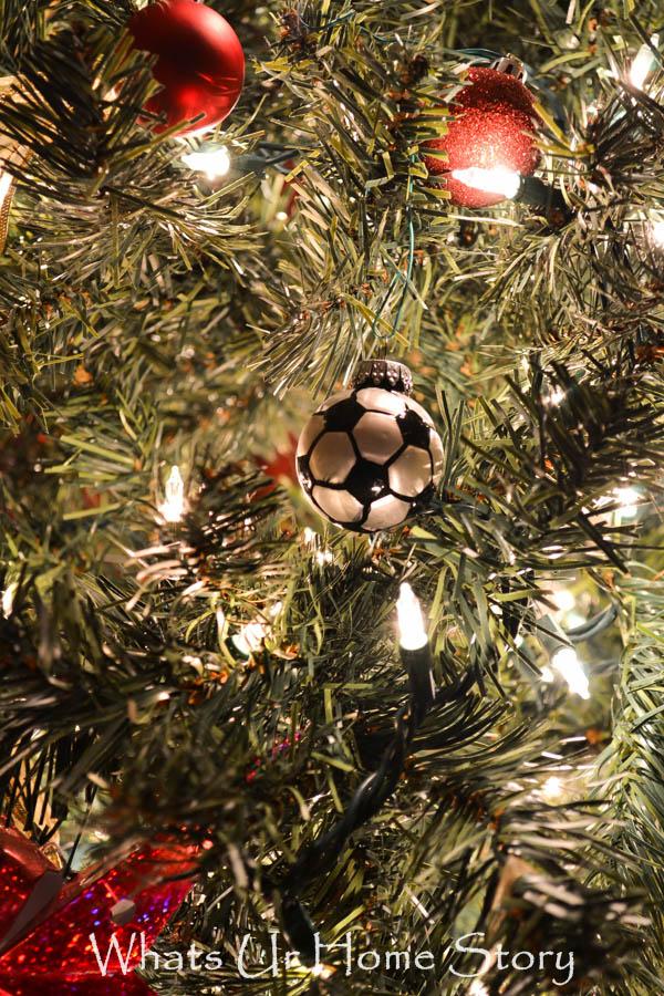 Kids Christmas Tree-Soccer Ball Ornament