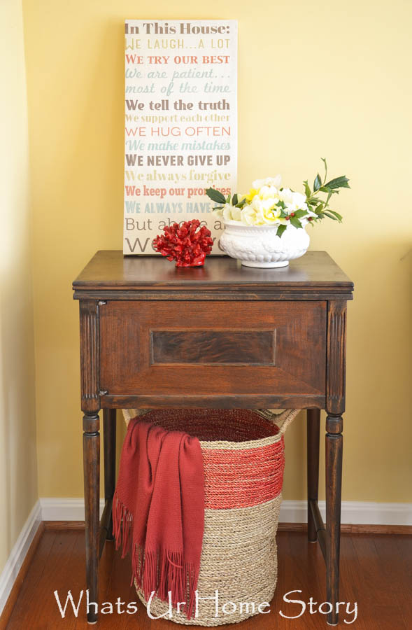 How to makeover a vintage sewing machine cabinet