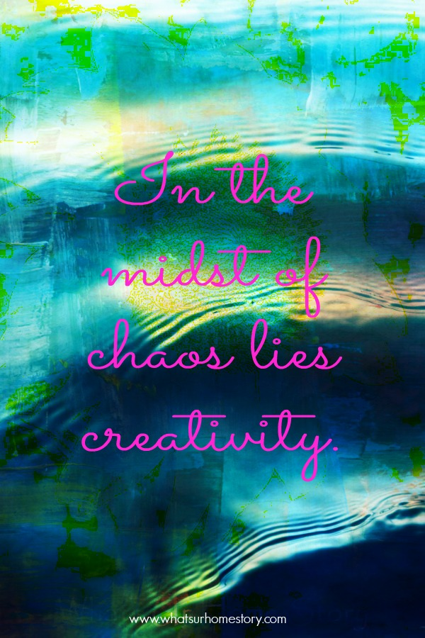 In the midst of chaos quote