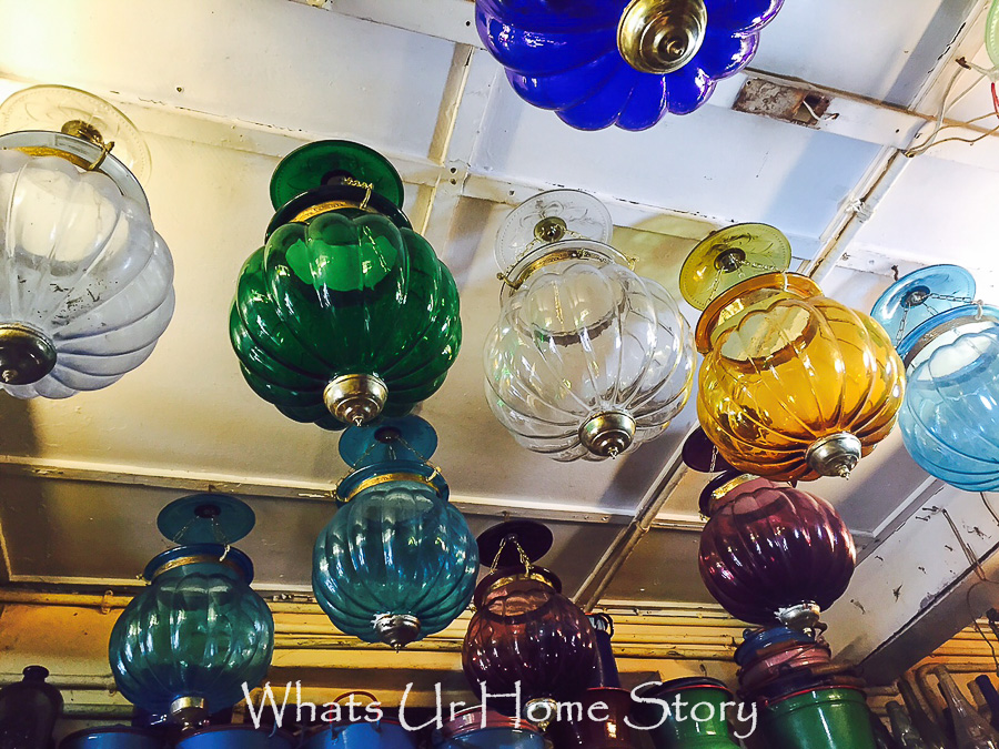 antiquing in Jew town-moroccan lanterns