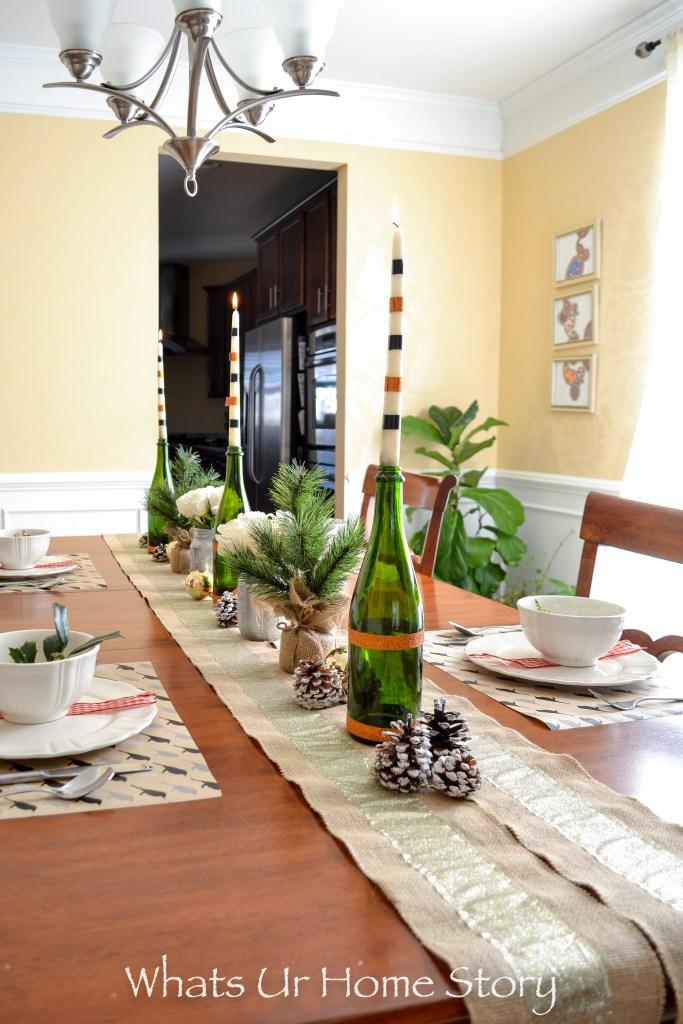 Neutral Christmas Table Setting