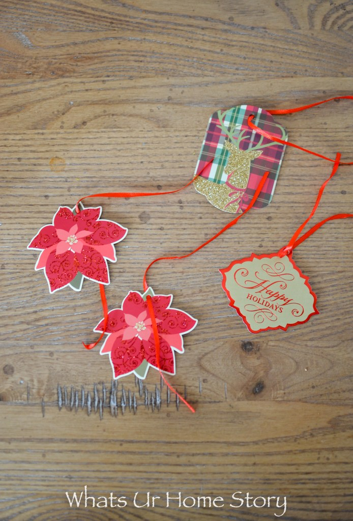 Repurpose gift tags into a Christmas garland-0421