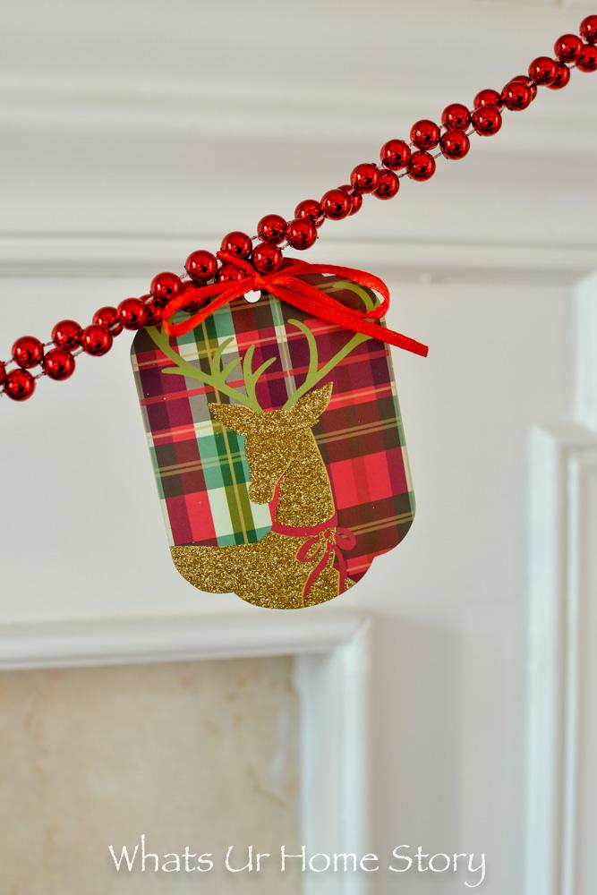 holidays with Hallmark-gift tag garland