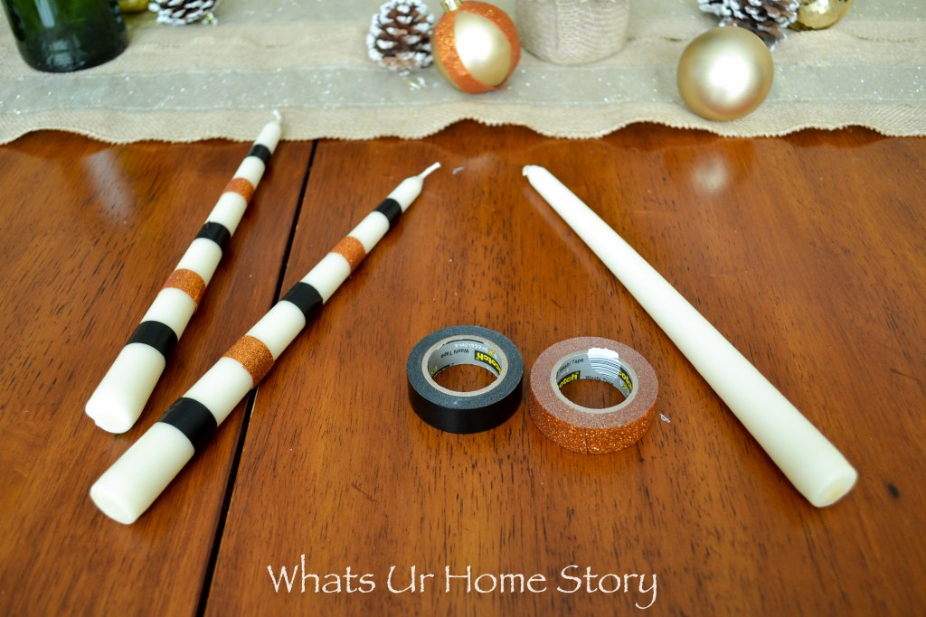 how to make washi tape candles