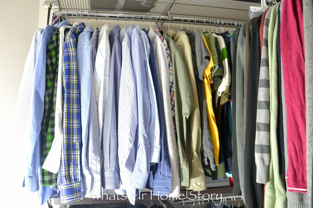 His Master Closet Makeover with Elfa System