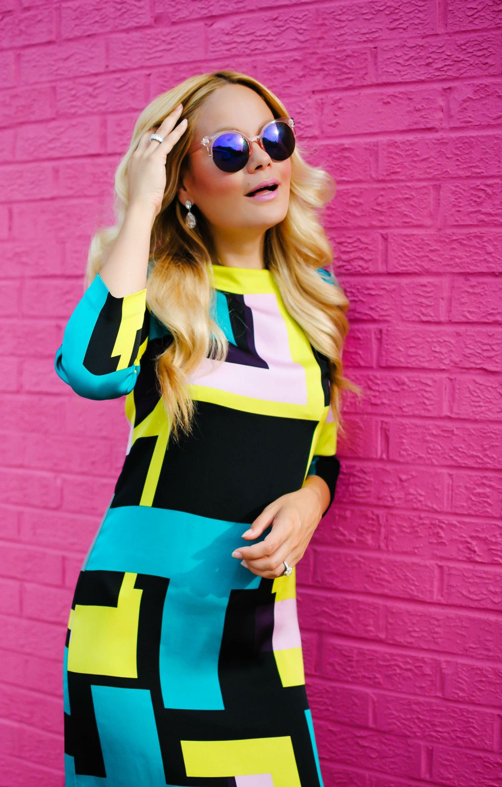 Thred Up_Second Hand Clothing_Milly Dress_Pink Wall_What Would V Wear_Vanessa Lambert