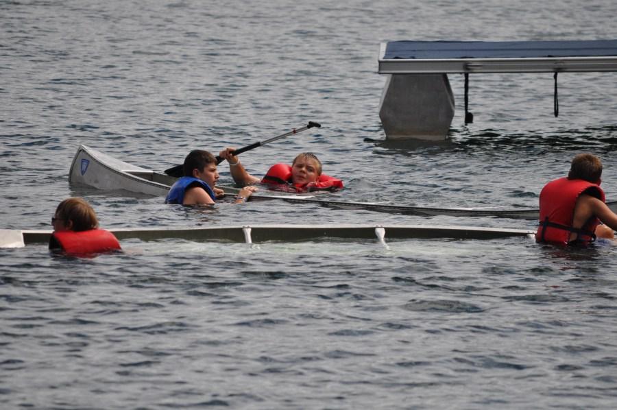 Swamped Canoe