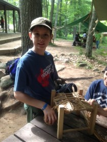 Matt making a basket