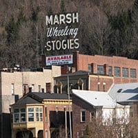 Marsh Wheeling Stogies Sign