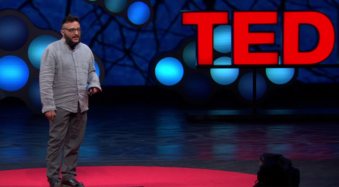 Salvatore Iaconesi speaking  at TED in 2013