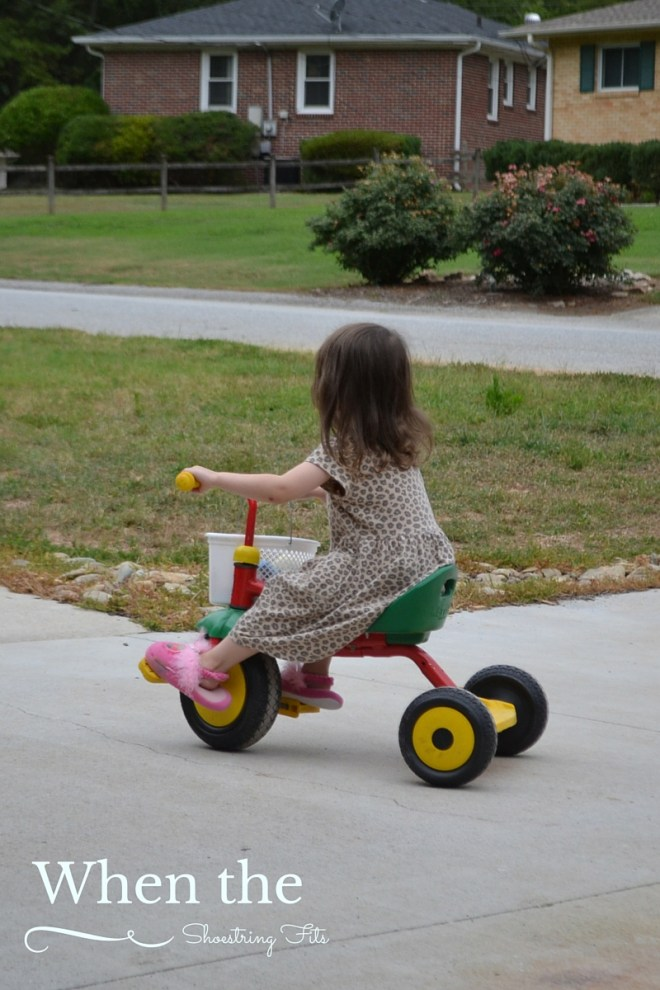 Trikes keep little tikes busy during summer afternoons