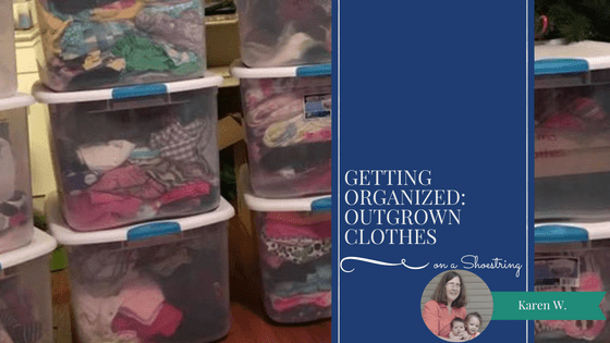 Getting organized: outgrown clothes