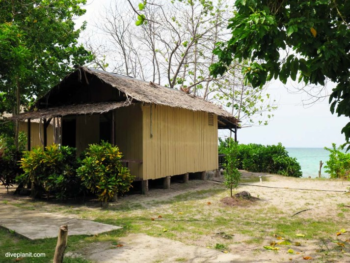 Budget accommodation at Kepayang Island Eco Resort.