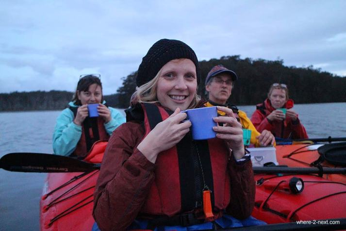 3736-Tea-break-on-Lake-Durras-with-Bay-and-Beyond-Kayak-Tours-DPI-3736
