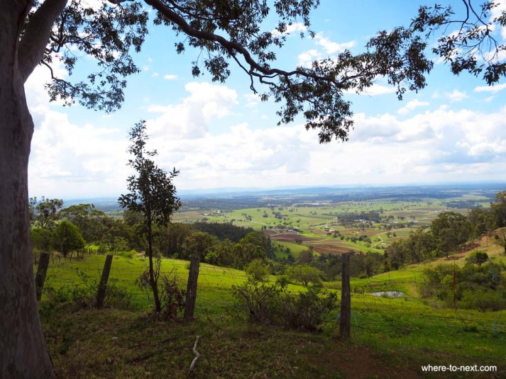 The view of the Hunter Valley at top of hill