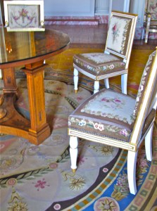 French Neoclassical Chair in Mauve