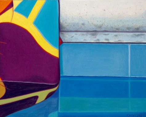 'Towel' Oil on Canvas, 24 x 30, Romi Cortier