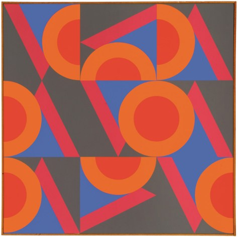 Lot 364, #18, Karl Benjamin, Image courtesy Los Angeles Modern Auction