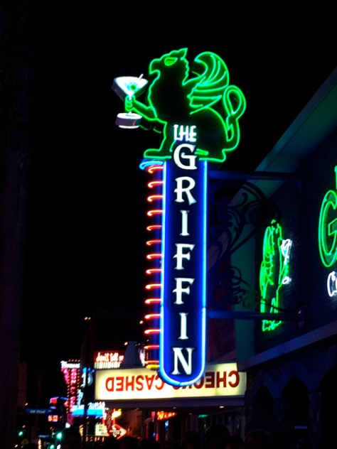 Vintage Neon Griffin Sign, Las Vegas, Photo Romi Cortier