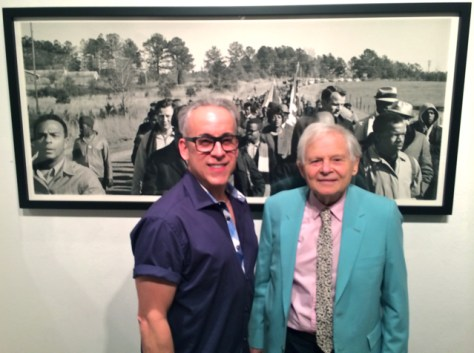 Romi Cortier with renowned Photographer Steve Schapiro, Fahey/Klein Gallery opening night 'March to Freedom'