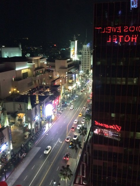 Roosevelt Hotel rooftop view of Hollywood Boulevard, Photo Romi Cortier