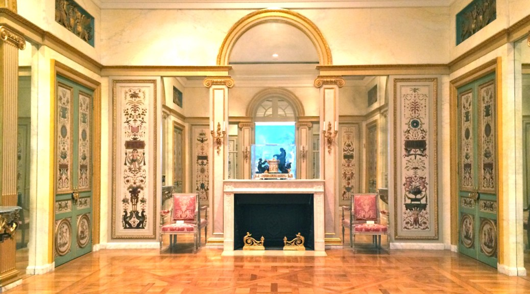 Neoclassical Paneled Room at the Getty Center, Los Angeles, Photo Romi Cortier
