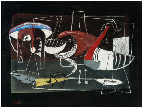 Lot 275, Cook and Fish, Emerson Woelffer, Los Angeles Modern Auctions, May 22, 2016, Estimate: $8,000 - $12,000