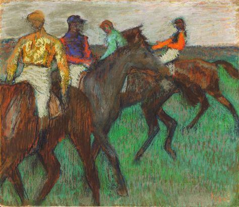 'Racehorses' Edgar Degas, 1895, National Gallery of Canada