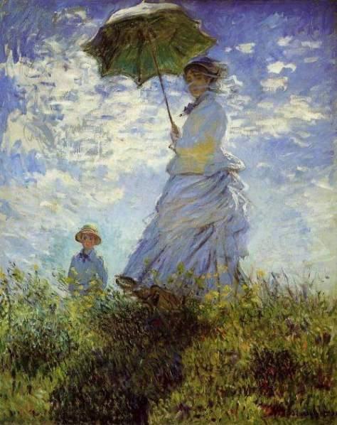 Woman with a Parasol, Claude Monet, 1875