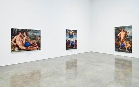 Jeff Koons Gazing Ball Paintings, Gagosian Gallery