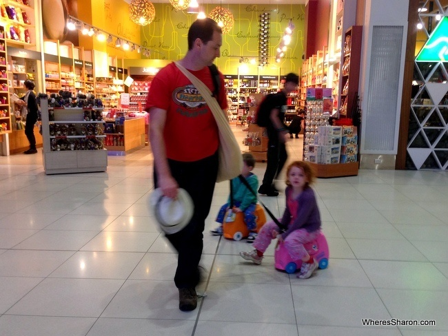 trunki ride on suitcase in airport