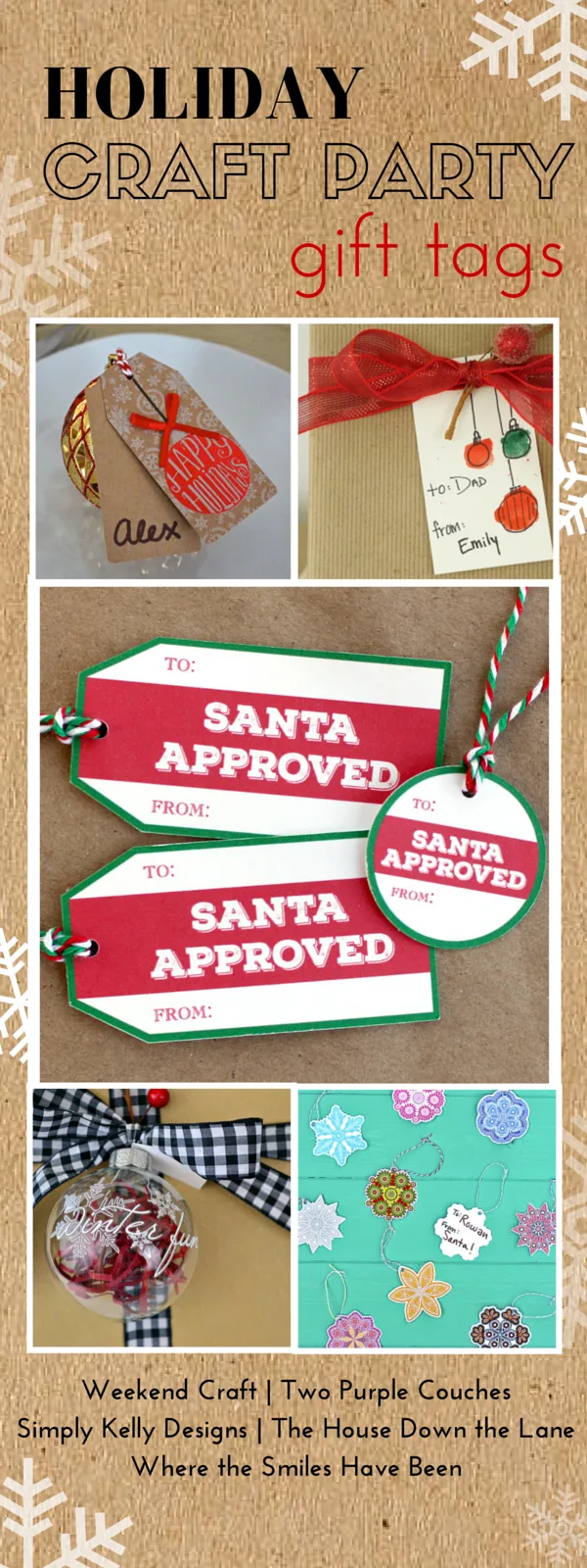 Holiday Craft Party! Day 2: Gift Tags, plus an AMAZING Giveaway! | Where The Smiles Have Been