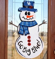 Univ. of Kentucky Basketball Snowman Door Hanger
