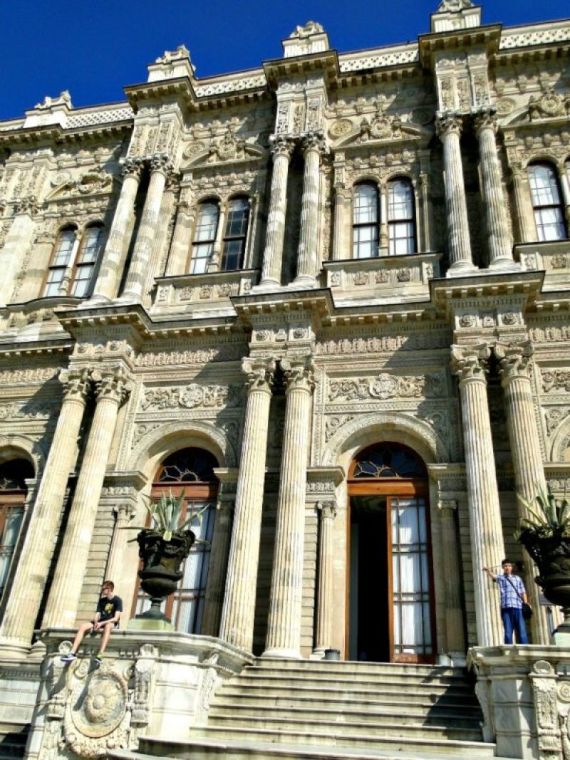 The stately Dolmabahce Palace, Istanbul.