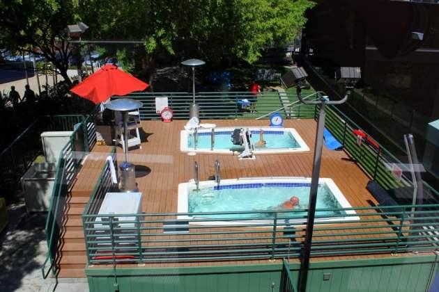 swimming pool at Google