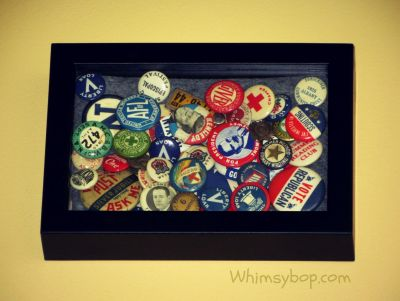 vintage tin buttons