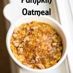 Stovetop Pumpkin Oatmeal