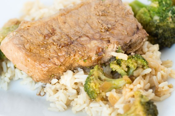 Asian-Style Pork Chops and Broccoli
