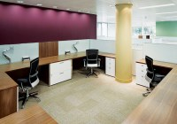 01- Open Plan - Crome - Walnut with Glass