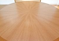 Radial Veneered Table in Quarter Cut A. W. Oak
