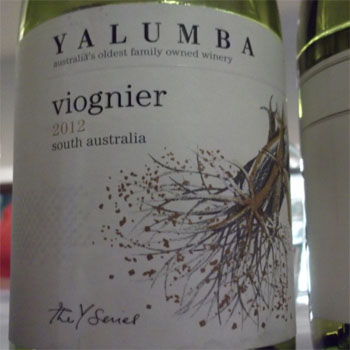 Y Series Yalumba viognier 2012