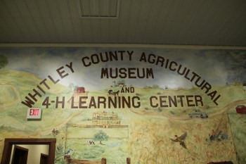 Whitley County Ag Museum wall mural painting