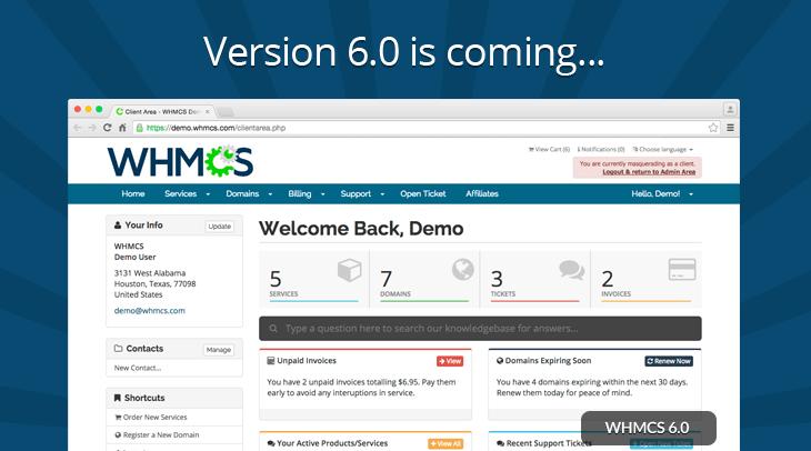 Plataforma WHMCS V6.0