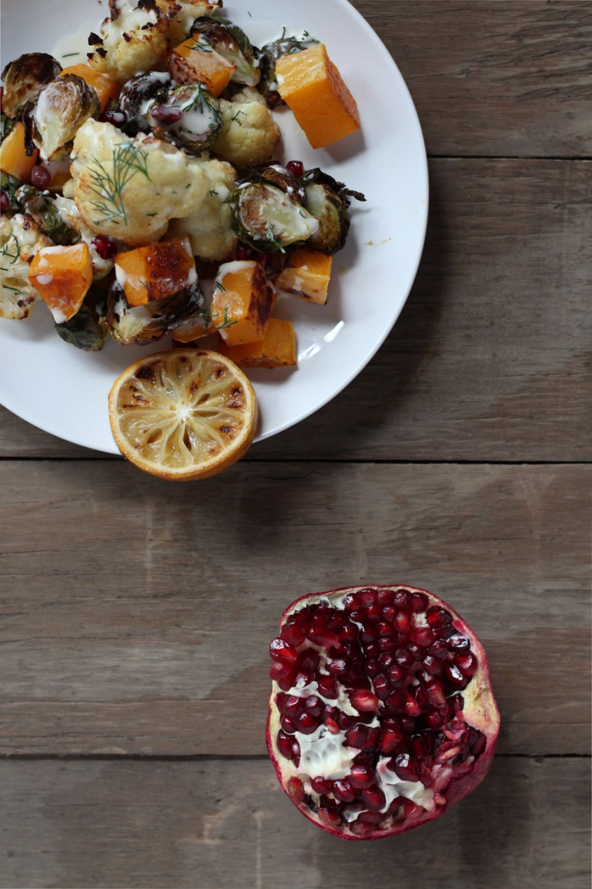 Roasted Vegetable Salad with Pomegranate